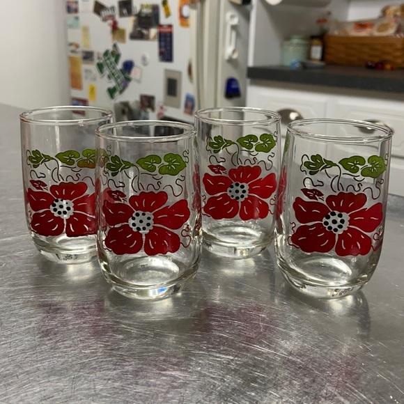 Vintage Juice Glasses set of 4